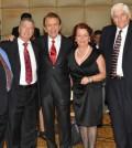 From left, John Levas, Paul Macropoulos, Peter Mesologites, Evangelia Cyprus, Ted Malgarinos and Andy Cyprus