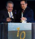 Jim Gianopulos, Chairman and CEO of 20th Century Fox, receiving the Honorary Orpheus Award by Kary Antholis,, President of HBO