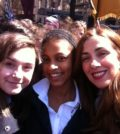 Panagiota with some of her students at the Cathedral School