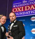 Oxi Courage Award recipient Vladimir Kara-Murza and presenter Michael Psaros