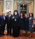 U.S. Senator Bob Menendez, Honoree George Tsunis, Archbishop Elipidophoros, Olga Tsunis, Eleni Tsunis & Chrisanthy Zapantis-Melis