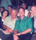 From left, Christine and Paul Sarbanes, Mike and Andy Manatos