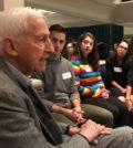 Students with FAITH Founder Dr. Roy Vagelos